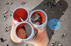 Hy-Fi | Instalação do MoMA feita de tijolos de fungo | The Living | David Benjamin | bim.bon