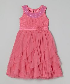This Bubble Gum Jody Dress - Girls is perfect! #zulilyfinds