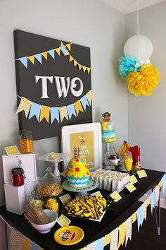 "Kara's Party Ideas Paul Frank ""Keep Calm & Go Bananas"" Monkey Party 