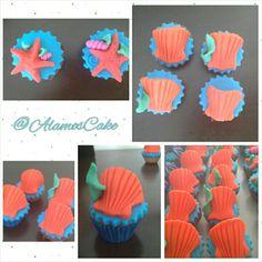 #almeja#bautizos #bodas #cupcake #cupcakes#cupcakealmeja#cupcakemarino #cumpleaños #dessert #desserttable #dulces #estrellademar#fiestas #postres#vainilla @AlamosCake  Para pedidos 04242114240 Alamoscake@gmail.com #AlamosCake  #WRM