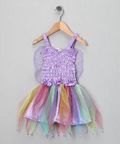 Love this Light Purple Fairy Wings Dress - Girls on #zulily! #zulilyfinds