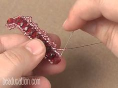 Video: Ogalala Lace Beaded Bracelet Tutorial from Beaducation.com   (Jill Wiseman)  #Seed #Bead #Tutorials