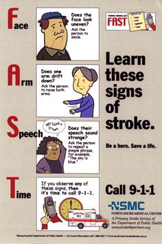 learn these signs of a stroke - F(ace) A(rms) S(peech) T(ime)