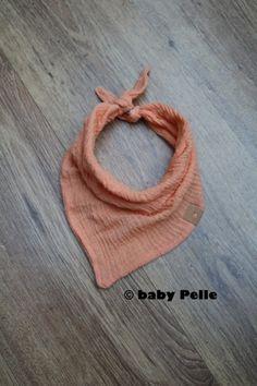 Halstücher - Baby Halstuch Musselin Baumwolle creme orange  - ein Designerstück von babyPelle bei DaWanda