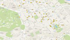Mapa con los comercios adheridos a la iniciativa. CEDIDO