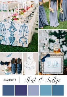 Wedding Ideas with Ikat & Indigo via @The Bridal Detective