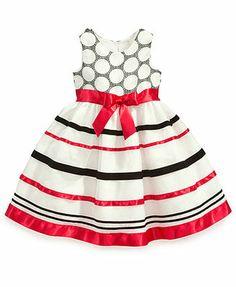 Bonnie Jean Girls Dress, Little Girls Striped Dress Lacey wore this on her birthday! Kids Dress Wear, Kids Dress Up, Toddler Dress, Girls Formal Dresses, Little Girl Dresses, Cute Dresses, Dress Up Outfits, Kids Outfits, Dress Clothes