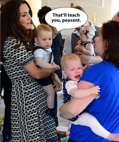 Prince George stole the other baby's toy & the other baby's mom apologized to Kate... ??