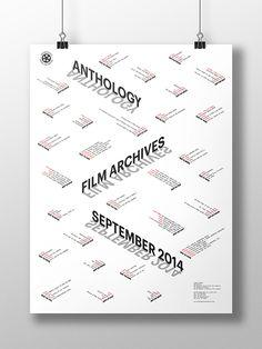 Anthology Film Archives September 2014 on Behance