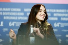 #StacyMartin #Nymphomaniac Stacy Martin on the press-conference during Berlinale, February 9, 2014, Berlin, Germany #VivaconAgua
