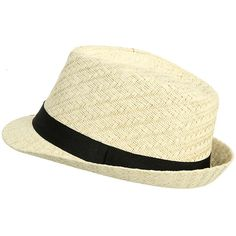 4af47f01 Criss Cross Straw Fedora ($11) ❤ liked on Polyvore Wicker Porch Furniture,  Painting