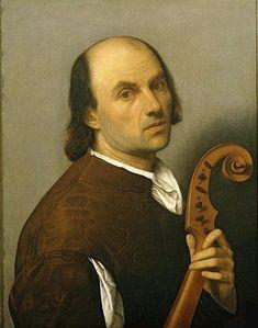 A Man with a stringed instrument, ca. 1515 (attributed to Bernardino Licinio) (ca. 1489-1565) Memphis Brooks Museum of Art, TN, Kress 206