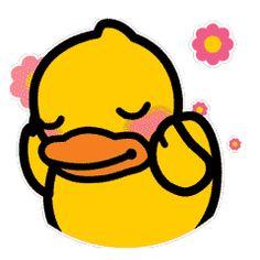 Sticker of B.Duck on Behance Duck Illustration, Abdominal Bloating, Duck Logo, Duck Cartoon, Classroom Background, Shape Art, Line Friends, Abstract Drawings, Kids Logo
