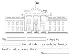 Printable American Symbols booklet for younger elem.