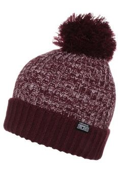 M�tze - deep bordeaux/pink freeze Freeze, Bordeaux, Knitted Hats, Winter Hats, Beanie, Deep, Knitting, Outfit, Pink