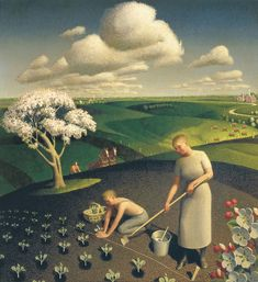 Spring in Country - Grant Wood