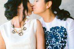 fashion love jewelry heart dress love wedding modern   Jen + Kat   Los Angeles Stylish Same Sex Wedding   Jenn Emerling Weddings