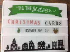 #hslightbox #christmas #stampastack #tistheseason @StampinT Heidi Swapp, Lightbox, Tis The Season, Christmas Ideas, Marketing, Cards, Inspiration, Home Decor, Biblical Inspiration