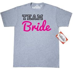 Inktastic Team Bride (script) T-Shirt Engagement Wedding Mens Adult Clothing Apparel Tees T-shirts, Size: Small, Grey