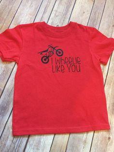 e86e370d68ec8 Toddler baby boys valentine shirt | I wheelie like you | Dirt bike Dirtbike  Shirt