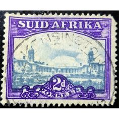 South Africa, Local Motifs, 2 d, purple & Grey 1945 used