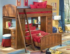 Youngsters Bedroom Furnishings – Bunk Beds for Kids Cabin Bunk Beds, Loft Bunk Beds, Wooden Bunk Beds, Bunk Bed With Desk, Bunk Bed Plans, Bunk Beds With Stairs, Kids Bunk Beds, Loft Bedrooms, Childrens Bunk Beds