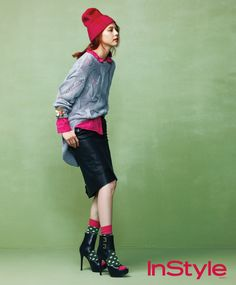 Park Ji Yoon InStyle Korea Magazine September Issue '12