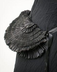 Frilly evening bag Black ruffle purse Convertible by MetamorphDK