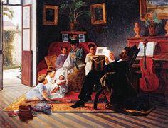 (Cena de Família de Adolfo Augusto Pinto) José Ferraz de Almeida Júnior, (Brasil 1850-1899)  óleo sobre tela, 106 x 137 cm  Pinacoteca do Estado de São Paulo
