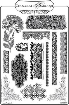 how to draw lace patterns | Crafty Flossie: New Stamps and a Give Away: