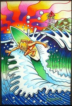 Some People Can't Surf: The Graphic Design of Art Chantry Surf Competition, Posca Art, Hawaii Surf, Surfing Pictures, Surfboard Art, Samurai Tattoo, California Surf, Dengeki Daisy, Vivid Imagery