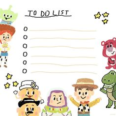 toy story memo, by sleepyymoo Cute Notes, Good Notes, Wood Toy Story, Imprimibles Toy Story, Memo Notepad, Note Doodles, Journal Stickers, Note Paper, Writing Paper