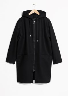 Other Stories image 2 of Hooded Coat in Black