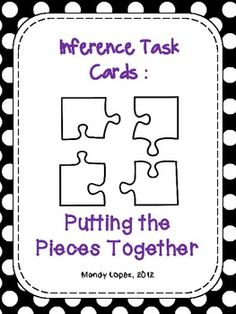 Making Inferences {28 Task Cards, Recording Sheet, Poster