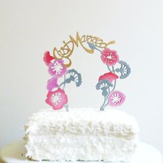 Hand Painted Whimsical Cake Topper from Madeline Trait