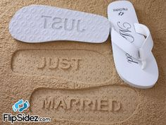 4aebbcd84f002 JUST MARRIED - Wedding  amp  Honeymoon Sandals. Ready to Ship  Check size  chart