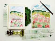 Bought watercolors today . . . lets see how artistic I can pretend to be! watercolor-wedding-invitations-3