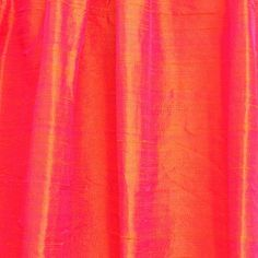 Coral Pink 100 Percent Pure Silk Dupioni Fabric By by FabricMart