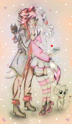 Foxy x Mangle: Kiss... by LaZoomaiga on DeviantArt