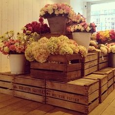 floral shop display ideas | Florist pop-up shop, The Hambledon. Winchester | Shop Display Ideas
