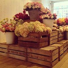 floral shop display ideas | Florist pop-up shop, The Hambledon. Winchester | Shop Display Ideas