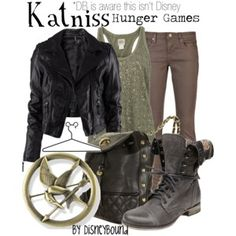 Disney Inspired Outfits - Polyvore katniss everdeen, the hunger, disney inspired outfits, hunger game, halloween costumes, fashion styles, inspir outfit, leather jackets, combat boots