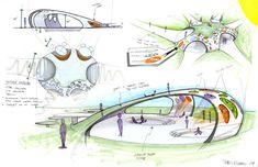 Urban design for SJSU. It was a fun project. Model Architecture, Architecture Design Concept, Urban Design Concept, Conceptual Architecture, Architecture Presentation Board, Landscape Architecture Drawing, Futuristic Architecture, Architectural Thesis, Conceptual Sketches