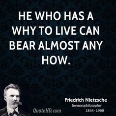 He who has a why to live for can bear almost any how. - Google Search