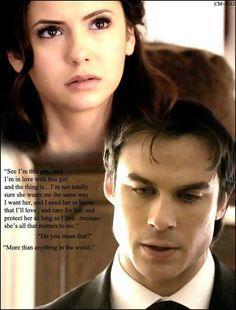 Elena Gilbert & Damon Salvatore - The Vampire Diaries