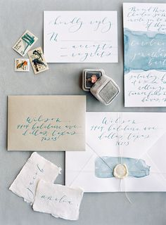 Watercolor wedding invitations, custom wedding invitations with wax seal, cheap wedding invitations, dusty blue wedding invitations ,spring/summer wedding ideas Elegant Wedding Invitations, Watercolor Wedding Invitations, Wedding Stationary, Wedding Invitation Cards, Invites, Cheap Invitations, Wedding Paper, Diy Wedding, Wedding Day