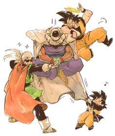 Goku, Piccolo, Gohan, & Goten. Bahaha cute :)