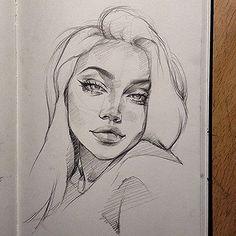 Art Sketches – Full of Beauties Girl Drawing Sketches, Cool Art Drawings, Pencil Art Drawings, Realistic Drawings, Drawing Faces, Drawing Tips, Tumblr Sketches, Face Sketch, Drawing Art