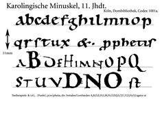 Carolingian Minuscule, 11th C. by lambdaDevice