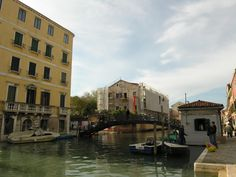 The word 'ghetto' describes the area where the Jewish population of Venice was confined to live, and under curfew, from 1516 to 1797.    There are three approaches to Venice's ghetto, from the north, the south, and the east. This is the northern approach, from the Fondamenta dei Ormesini. On the far right is one of the two sentry boxes for the night guards at the bridge. The sentry boxes are holdovers from when the Jewish population was locked in this area at night.